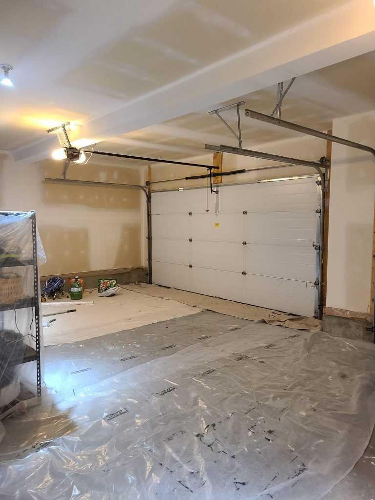 Before painting garage